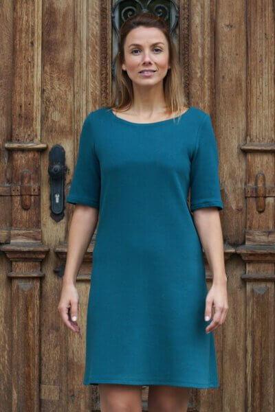 Jerseykleid Smaragd