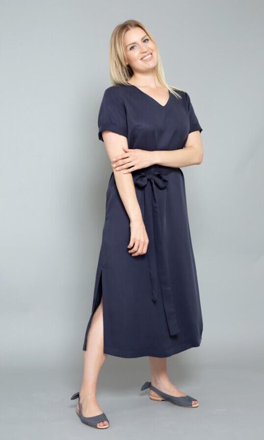 Nachhaltige Kleider Tencel Sommerkleider blau