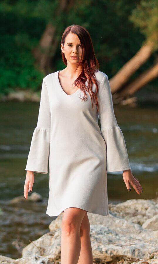 Nachhaltige Kleider Biobaumwolle Sommerkleider Weiß