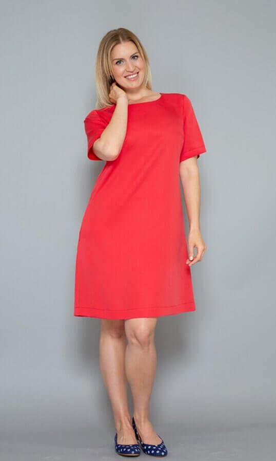 Nachhaltige Kleider Tencel Sommerkleider Rot
