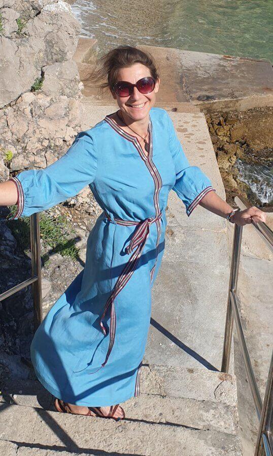 Sommerkleider Leinen Bohostyle Türkis