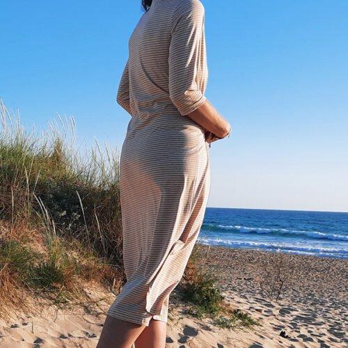 Jerseykleid in Midilänge