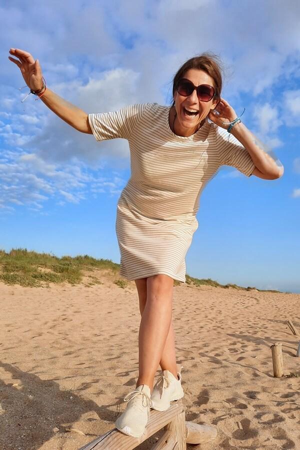 Knielanges Jerseykleid